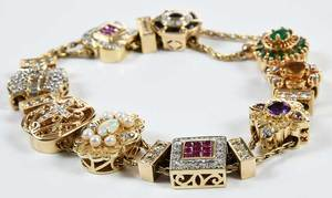 14kt. Diamond & Gemstone Slide Bracelet