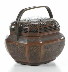 Chinese Bronze Hand Warmer