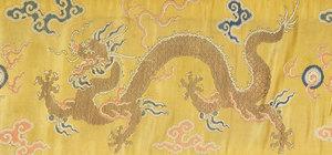 Chinese Kesi Slit Tapestry Dragon Banner