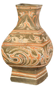 Chinese Earthenware Cold Painted Jar