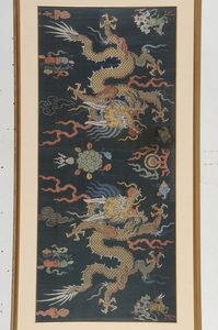 Chinese Silk Brocade Dragon Panel