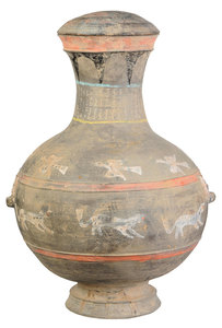Chinese Cold Painted Storage Jar