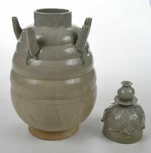 Chinese Yugh Celadon Mortuary Jar