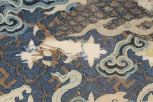 Chinese Kesi Slit Double Dragon Tapestry