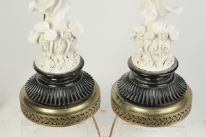 Pair Blanc de Chine Figures of Guanyin