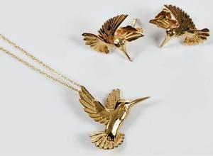 14kt. Necklace & Earrings Set