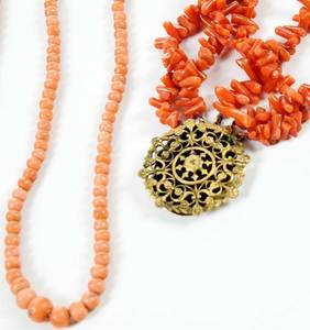 Six Pieces Coral Jewelry