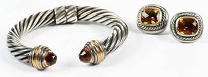 Yurman Bracelet and Earrings