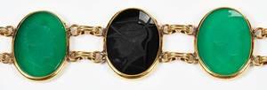 Four Pieces Intaglio Jewelry