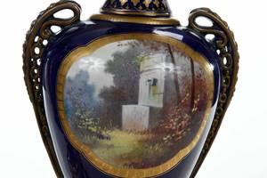 Pair Sèvres Style Porcelain Lamps
