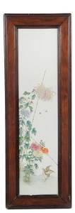 Chinese Enamel Decorated Porcelain Panel