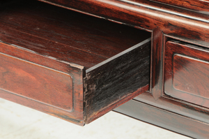 Antique Chinese Hardwood Scroll Table