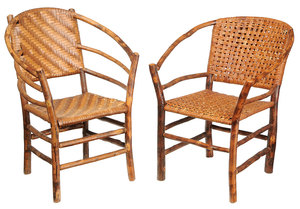 Two Similar Rustic Old Hickory Arm Chairs