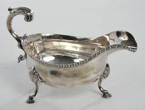 George III English Silver Sauce Boat