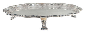 Irish George III Silver Footed Tray