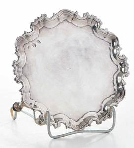 Irish George III Silver Footed Tray