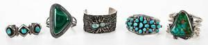 Five Silver Southwestern Bracelets