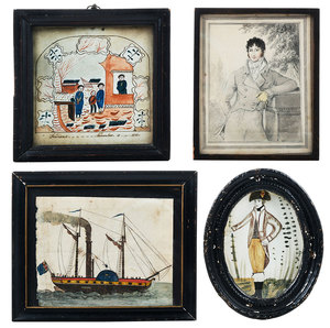 Four British Framed Paintings