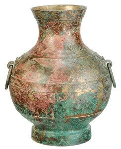 Fine Large Han Dynasty Bronze Hu Vase