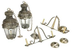Two Pairs Lanterns, One Pair Signed James Marsh