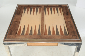 Modern Willy Rizzo Game Table and Chairs
