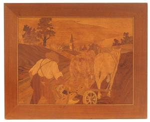 William Bader Marquetry Panel