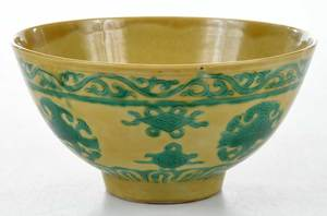 Qing Dynasty Famille Jaune Bowl
