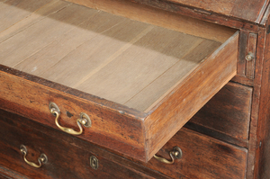 George III Oak Slant Front Desk