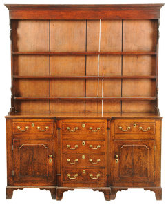 Early Welsh Oak Dresser and Rack