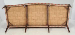 George III Carved Mahogany Camel Back Sofa