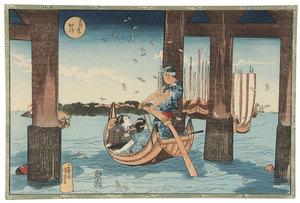 Five Japanese Wood Block Prints