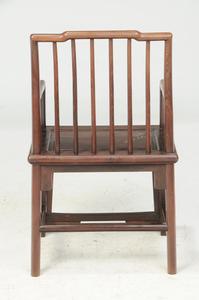Chinese Figured Hardwood Arm Chair