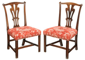 Pair George III Mahogany Side Chairs