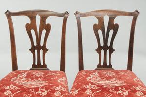 Pair George III Mahogany Side Chairs