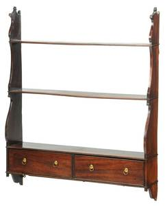 George III Mahogany Hanging Shelf