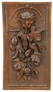 High Relief Carved Baroque Architectural Panel