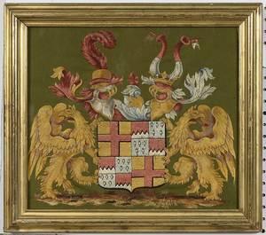 Continental Heraldic Crest Needlework