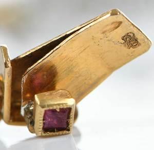 18kt. Diamond, Ruby & Pearl Bracelet