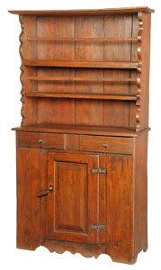 Rare North Carolina Chippendale Walnut Cupboard