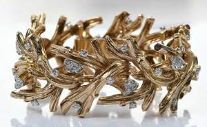 David Webb Retro 18kt. Diamond Bracelet