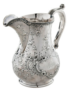 William Gale Coin Silver Pitcher