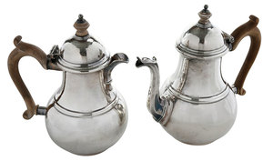 English Silver Coffee Pot and Pitcher