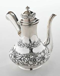 Individual Sterling Side Handle Coffee Pot