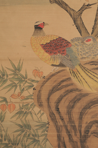 Two Asian Hand Painted Scrolls
