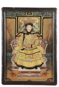 Six Chinese Reverse Paintings On Glass