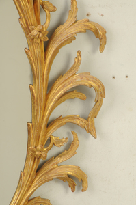 George II Carved and Gilt Wood Mirror