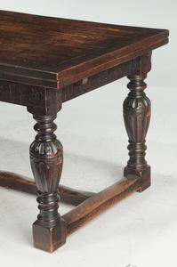 Jacobean Style Oak Draw Leaf Table