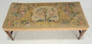 George III Style Mahogany Window Bench