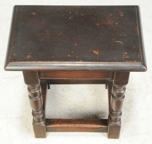 William and Mary Joint Stool, Miniature Table