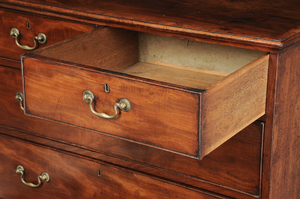George III Mahogany Five Drawer Chest